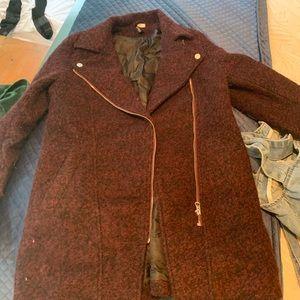 Burgundy H&M winter coat
